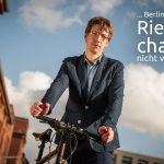 Berliner Radler unterstützen den Volksentscheid Fahrrad, denn …