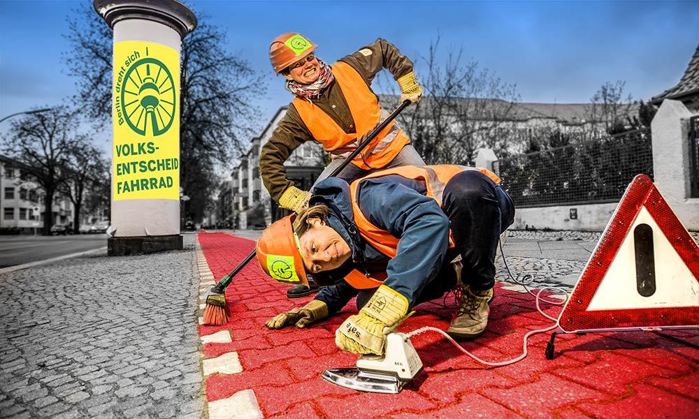 Radweg-Reparatur