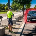 Ziel 8 Fahrradstaffeln: die Straße aus Perspektive der Radfahrer