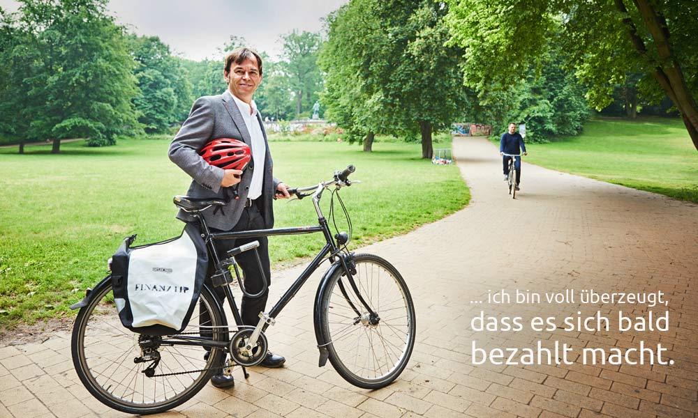 Hermann-Josef Tenhagen unterstützt den Volksentscheid Fahrrad