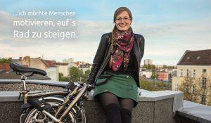 Berliner Radlerinnen unterstützen den Volksentscheid Fahrrad, denn …
